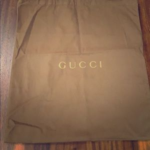 Gucci brown dust bag